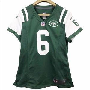 NFL Jets #6 Sanchez On Field Shirt Jersey V Neck